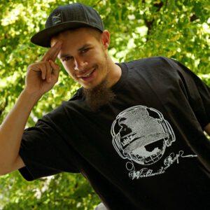 """T-Shirt """"Worldwide Rap"""" for Men"""